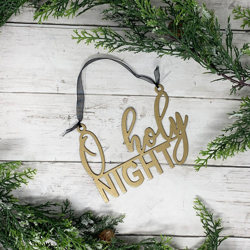 O Holy Night Gold Metal Ornament | CHO1015