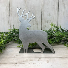 Load image into Gallery viewer, Rustic Deer Shelf Sitter | Metal Christmas Decor | CH10013
