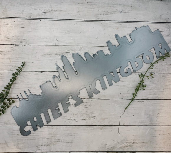 Chiefs Kingdom Kansas City Skyline | Metal Cutout Sign - KC10016