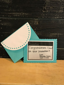Custom Card with Personalized Hand Written Note from YOU