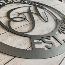Load image into Gallery viewer, Custom Monogram Circle with Names and Date | Metal Letter Cutout with Name Est. - CUST1004