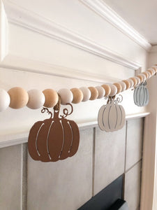 Small Garland Fall Individual Pumpkin Charms  - Choose Your Colors | FA1008
