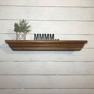 Shelf Words - Kitchen Bar | Metal Shelf Decor - KB1002