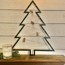 Load image into Gallery viewer, Black Metal Card Holder Tree | Metal Christmas Decor- CH1006