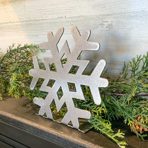Metal Snowflake Shelf Sitters | Set of 3 | CH10010