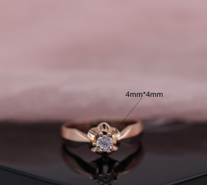 Styleibuy New Arrivals Special Offer Female Wedding Fashion Jewelry Women White Round National Zirconia 585 Rose Gold Rings 4mm-WR004 - Styleibuy Online Shop