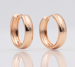 Styleibuy New Arrivals 585 Rose Gold Smooth Dangle Big Earrings Women Simple Exquisite Wedding Party Noble Trendy Unique Jewelry-WE022 - Styleibuy Online Shop