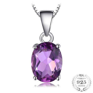 Styleibuy Natural 1.7ct Amethyst Pendants Oval Cut Genuine Solid 925 Sterling Silver Purple Jewelry Not Include A Chain-WN010 - Styleibuy Online Shop