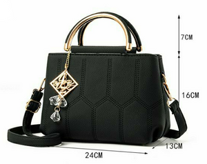 Styleibuy-2019 women Shoulder Bag solid cute ornaments totes plaid flap handbag messenger  -BAG126