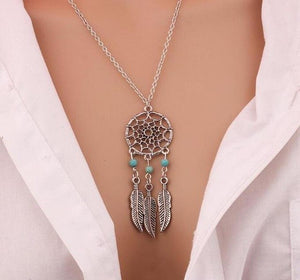 Fashion Retro Bohemia Dream Catcher Pendant Chain Necklace Gift-WN003 - Styleibuy Online Shop