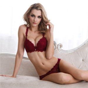 Styleibuy Girl sexy lace bra set gather adjustable for women A B C Cup - Styleibuy Online Shop