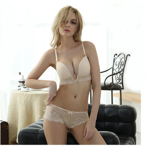Styleibuy Women Lacy Bow-knot Lingerie Underwear Set Push UP - Styleibuy Online Shop