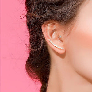 AAA zirconia sparking factory promotion long ear wire climber cz 925 silver women long earring-WE015 - Styleibuy Online Shop
