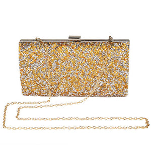 Styleibuy-2019 Women clutches Crystal bag Wallet Wedding Purse Party Banquet Black/Gold Silver-BAG008 - Styleibuy Online Shop