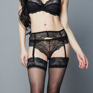 Styleibuy Lace sexy comfortable thin cup bra sets with gerter
