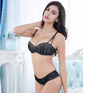 Styleibuy Half cup ultra - thin lace sexy bras ladies bra sets women underwear - Styleibuy Online Shop