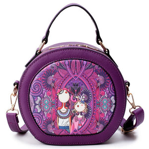 Styleibuy-2019 Women shoulder bag high quality PU leather cartoon Circular Bags –BAG037 - Styleibuy Online Shop