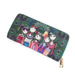 Styleibuy-2019 Women Wallet Zipper Leather Long Clutch Card Holder cartoon Purse-BAG038 - Styleibuy Online Shop