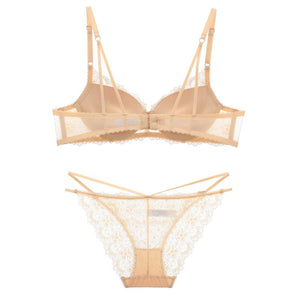 Styleibuy Summer Female Deep V Bra Sexy Lace Push Up Sexy Bra Sets Suit for Women - Styleibuy Online Shop