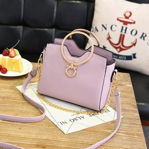 Styleibuy-2019 Women Shoulder Bag casual chains metal handle small handbags-BAG121 - Styleibuy Online Shop