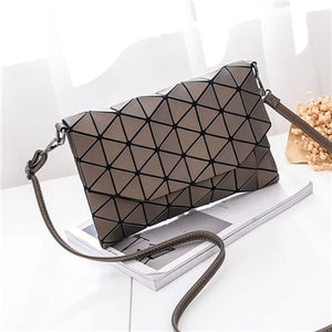 Styleibuy-2019 Women Shoulder Bag small solid plaid geometric lingge envelope handbag -BAG122