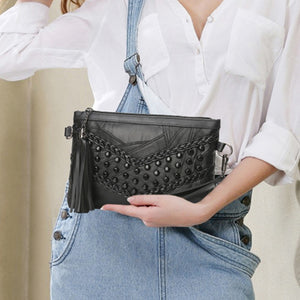 Styleibuy-2019 Women Clutch Bag  Tassel  Leather Braid Weave Crossbody-BAG006 - Styleibuy Online Shop