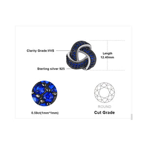 JewelryPalace 0.5ct Created Blue Spinel Flower Wraparound Cluster Studs Earrings 925 Sterling Silver Jewelry for Women-WE37 - Styleibuy Online Shop
