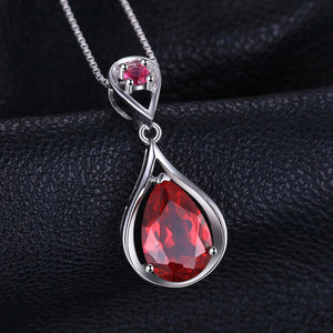 Styleibuy Water Drop 4ct Created Red Ruby Pendant Anniversary 925 Sterling Silver For Women Fine Jewelry Without A Chain-WN016 - Styleibuy Online Shop