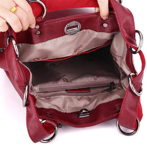 Styleibuy-2019 Women Fashion Backpack  Zipper PU Leather Multifunction –BAG042 - Styleibuy Online Shop