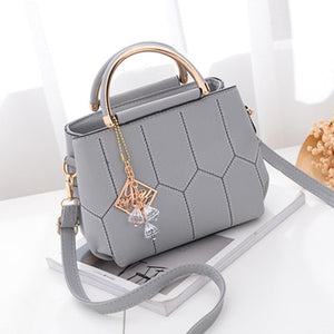 Styleibuy-2019 women Shoulder Bag solid cute ornaments totes plaid flap handbag messenger  -BAG126 - Styleibuy Online Shop