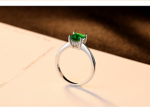 Styleibuy Emerald Simple Female Zircon Stone Finger Ring 925 Sterling Silver Women Jewelry Prom Wedding Engagement Rings Brand Gift-WR018 - Styleibuy Online Shop