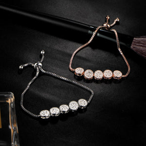 New Fashion  Pulseras Mujer Wedding Crystal Bracelet Charm Femme Party Jewelry-WB003 - Styleibuy Online Shop