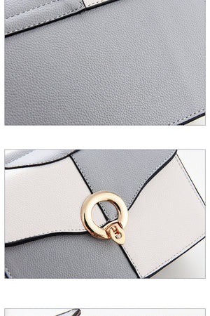 Styleibuy-2019 women Shoulder Bag casual metal ring panelled cover hasp small falp handbag -BAG124