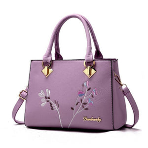 Styleibuy-2019 women Shoulder Bag flowers decoration totes women floral rivet handbag -BAG127 - Styleibuy Online Shop