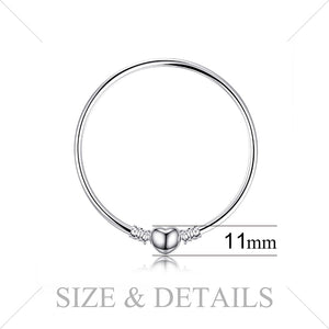Jewelrypalace 925 Sterling Silver Bracelets Elegant Heart Beads Bracelet Bangle Gifts For Women Anniversary Fashion Jewelry-WB010 - Styleibuy Online Shop
