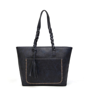 Styleibuy-2019 Women Shoulder Bag Vintage Causal Totes High Quality Dames PU Tassel Handbag -BAG068 - Styleibuy Online Shop