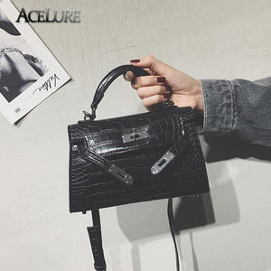 Styleibuy-2019 Women Shoulder Bag Vintage Crocodile Pattern Lock  Leather Crossbody Bag Mini Tote -BAG78 - Styleibuy Online Shop