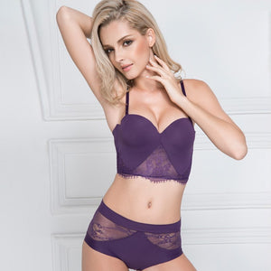 Styleibuy - Womens Half Cup Padded Lace Bra Brief Sets Seamless - Styleibuy Online Shop
