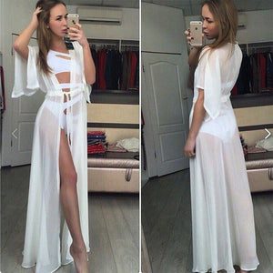 Stleibuy-Solid long Bikini Cover up Tunic for Beach Swimsuit  wear--SA120801 - Styleibuy Online Shop