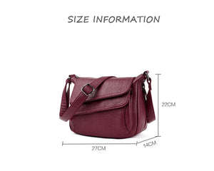 Styleibuy-2019 Women Shoulder Bag Oblique Causal Totes High Quality Dames PU Handbag -BAG116 - Styleibuy Online Shop