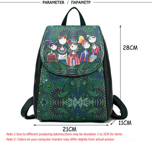 Styleibuy-2019 Women shoulder bag high quality PU leather cartoon backpack Green –BAG034 - Styleibuy Online Shop