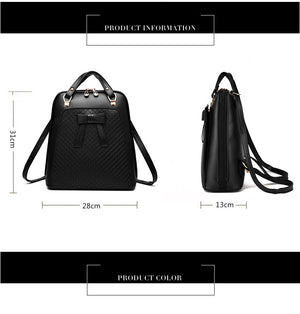 Styleibuy-2019 Women Fashion Backpack PU soft leather casual For Girls -BAG050 - Styleibuy Online Shop