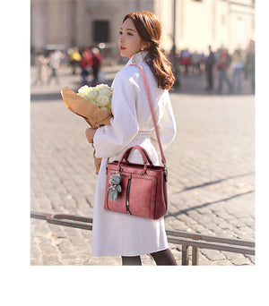 Styleibuy-2019 Women Shoulder Bag medium large capacity totes zipper bear strap thread-BAG119 - Styleibuy Online Shop