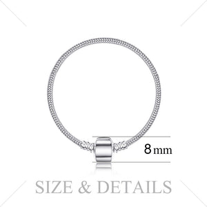Styleibuy 925 Sterling Silver Silver Clasp Bangle  Jewelry  Women Anniversary Gift For Her Women girlfriend New Arrival-WB014 - Styleibuy Online Shop