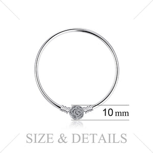 Styleibuy  Elegant Pave Clasp Bangle BraceLets 925 Sterling Silver Gifts For Women Anniversary Gifts Fashion Jewelry-WB011 - Styleibuy Online Shop