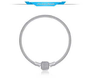 Styleibuy  Elegant Signature Clasp Bracelets Gifts For Women Anniversary Gifts Fashion Jewelry 925 Sterling Silver-WB013 - Styleibuy Online Shop