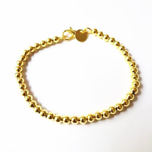 Beautiful fashion Elegant Gold color silver plated 4MM beads chain women lady cute Bracelet-WB004 - Styleibuy Online Shop