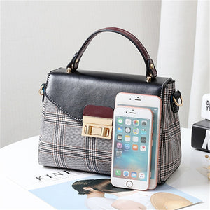 Styleibuy-2019 women Shoulder Bag plaid casual ladies totes messenger crossbody bag-BAG125 - Styleibuy Online Shop