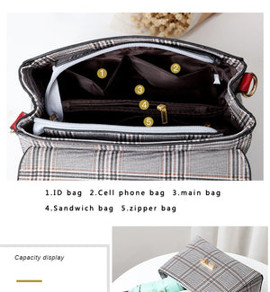 Styleibuy-2019 women Shoulder Bag plaid casual ladies totes messenger crossbody bag-BAG125