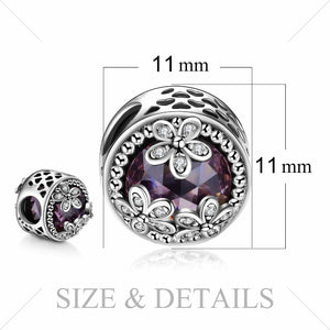 Styleibuy 925 Sterling Silver Beads Charms Sparkling Daisies Cubic Zirconia Charm Fit Bracelet Bangles Flower Silver Jewelry-WB015 - Styleibuy Online Shop